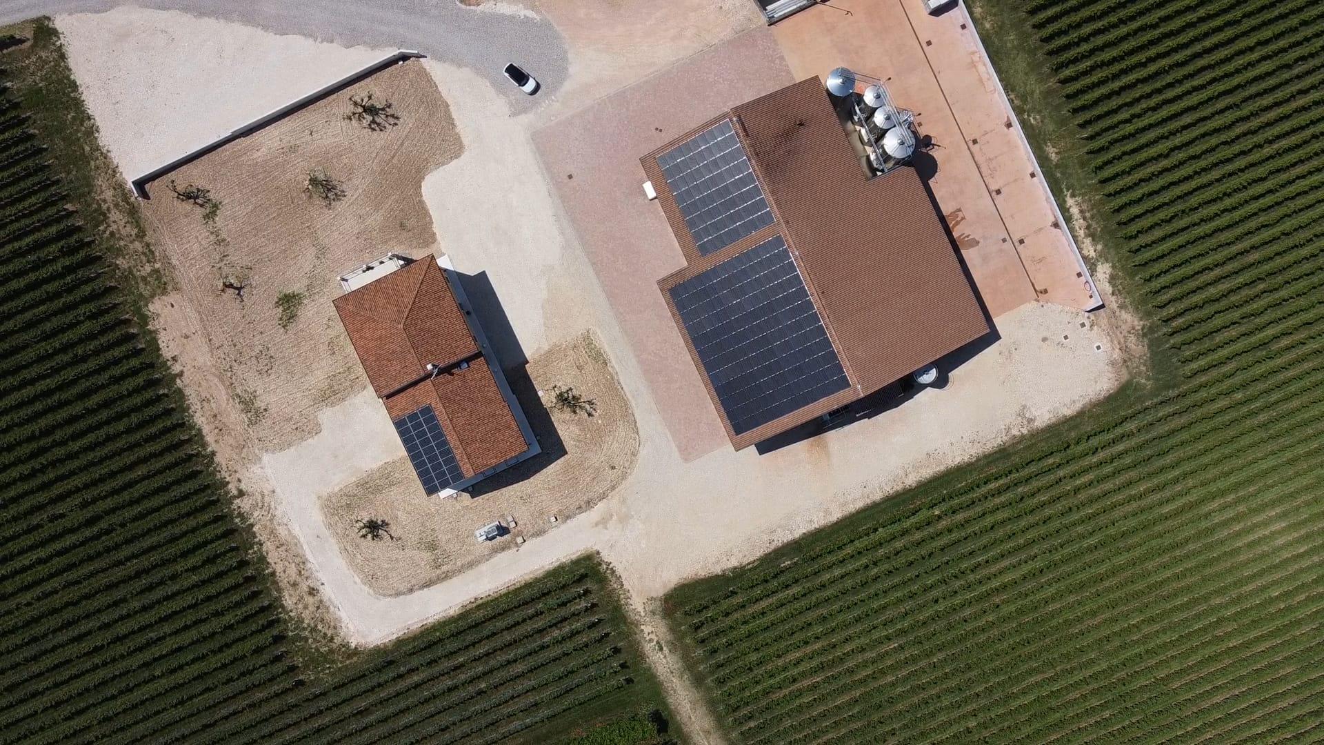 Cantina Ilatium Morini vista drone